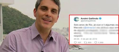 Repórter da Globo, André Galindo (Foto - Globo/Reprodução)