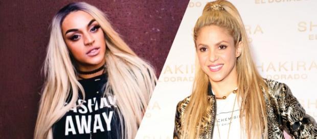 As artistas Pabllo Vittar e Shakira