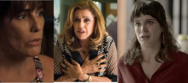 Duda, Sophia e Clara em 'O Outro Lado do Paraíso'.
