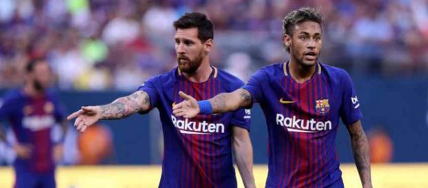 Leo Messi e Neymar jogaram juntos no Barça