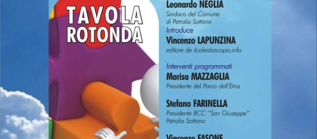 Locandina della tavola rotonda a Petralia Sottana