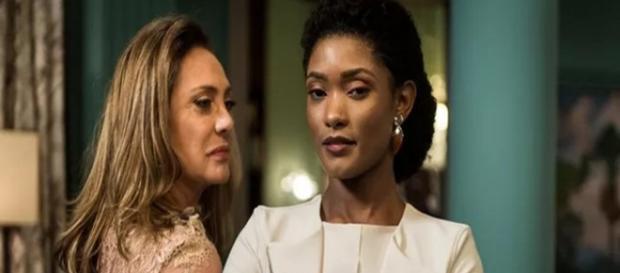 Nádia vira empregada de Raquel (Divulgação/TV Globo)