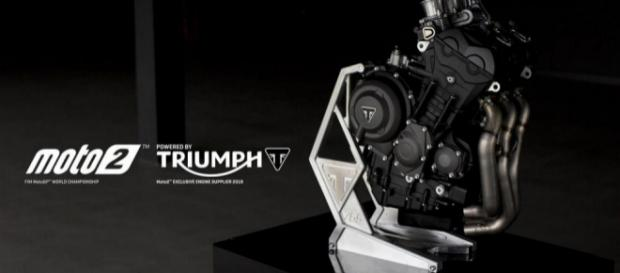 Propulsore Triumph 3 cilindri per la Moto2 2019.