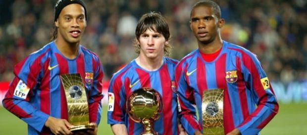 Ronaldinho e Eto'o marcaram o começo da Era Messi