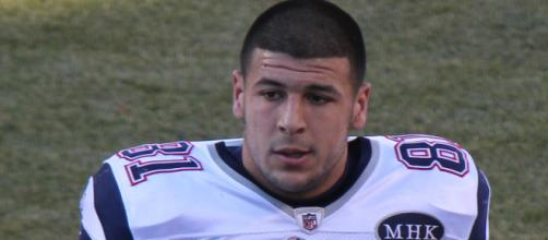 Hernandez was serving life without parole for murder before committing suicide in prison. [Image via Wikimedia]