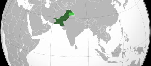 Image of Pakistan, in dark green, and Pakistan's claimed but uncontrolled territory, in dark green. - [Wikimedia Commons]