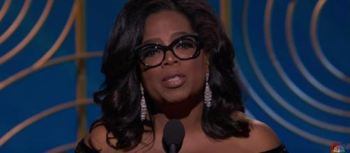 Oprah's speech at the Golden Globe Awards. [image credit: NBC/Youtube screenshot]