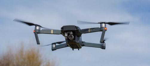 Quadcopter in flight. - [Image credit – Sinky / Wikimedia Commons]