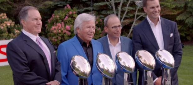 The Patriots are pursuing a sixth Super Bowl trophy this season. - [Image Credit: NFL Films / YouTube screencap]