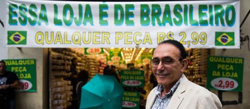 ''Essa loja é de brasileiro''. Foto: Reprodução