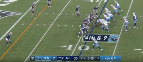 The Patriots easily destroyed the Titans (NFL/YouTube screencap]