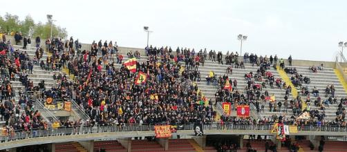 Una foto della Curva Nord durante il match.