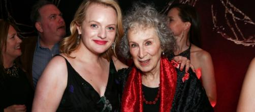 Elizabeth Moss and Margaret Atwood - Image courtesy @TIME via Twitter