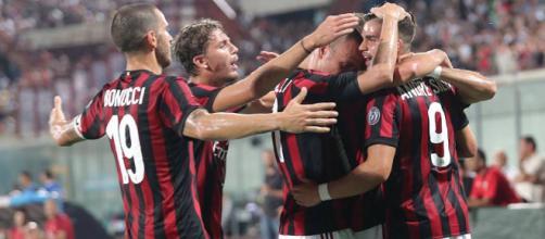 Europa League, esultanza Milan