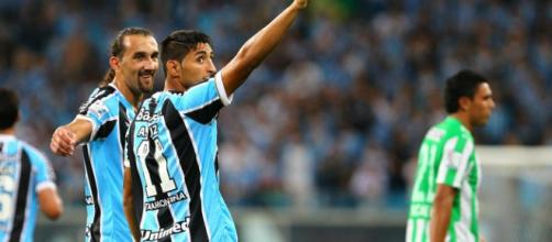 Jogador em atuação pelo Grêmio (Foto: Lucas Uebel)