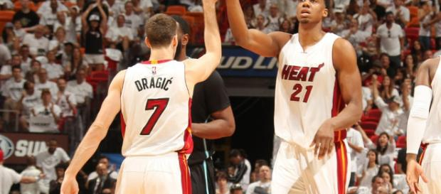 Goran Dragic and Hassan Whiteside - Heat Nation - Heat Nation - heatnation.com