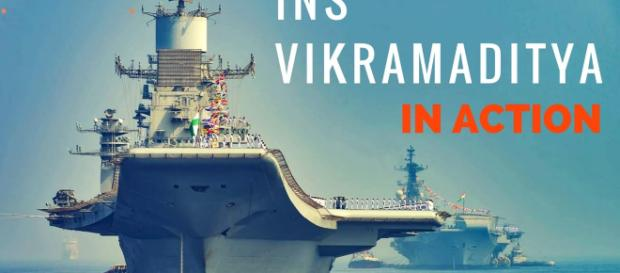Indian Flagship INS Vikramaditya. I(mage credit screenshot Youtube.com)
