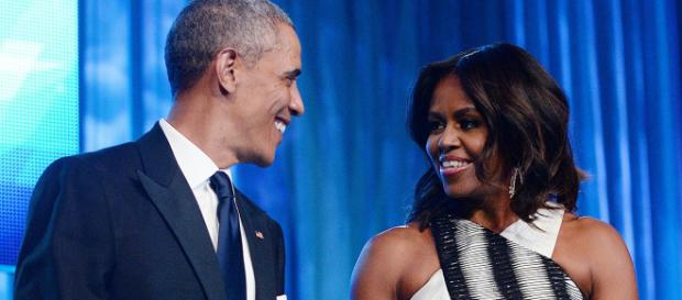 Michelle com o marido Barack Obama