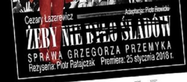 Plakat spektaklu w warszawskim Teatrze Polonia (fot. materiały prasowe)