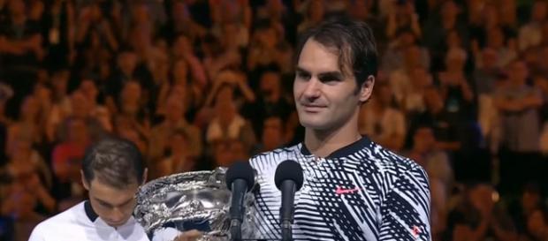 Roger Federer won 2017 AO title (Image Credit: HD Tennis Grand Slam Interviews/YouTube screencap)