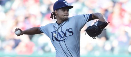 Is Chris Archer on the block? [Image via Tampa Bay Rays/YouTube]