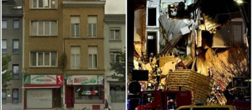 Anversa, il prima e il dopo della palazzina sventrata dall'esplosione
