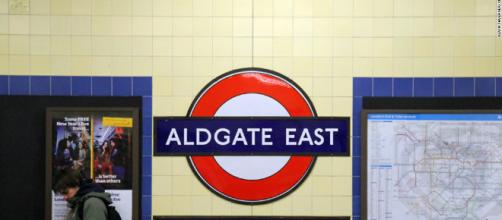 Phone incident took place at Aldgate East London at around 5:45 pm on Thursday 18 January