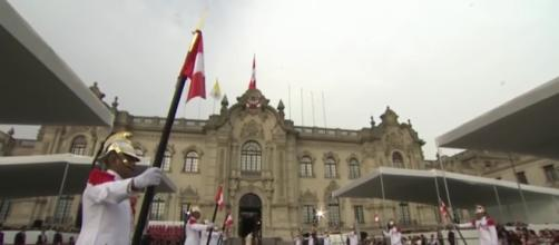 Pope visiting Peru's presidential palace in order to discuss enviromental and curruption issues. - [Al Jazeera Englishl / YouTube screencap]
