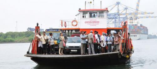 The junkar or jhankar (ro-ro ferry boat) Cochin (Image credit – Shankar S, Wikimedia Commons)