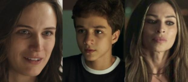 """Clara, Tomaz e Lívia em """"O Outro Lado do Paraíso"""""""