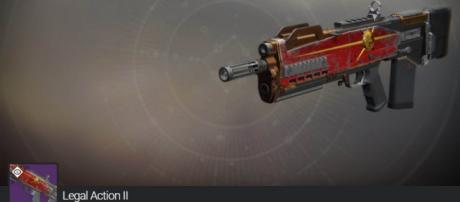 A New Monarchy weapon in 'Destiny 2.' - [xHOUNDISHx / YouTube screencap]