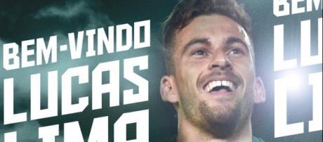 Palmeiras anuncia a contratação de Lucas Lima