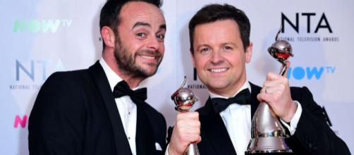 Ant & Dec win big at the 2018 NTA's. (Image credit- Manchester Evening News)