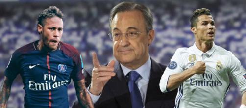 Florentino Pérez, Neymar y Cristiano Ronaldo