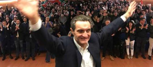 Lombardia, il candidato governatore del Centrodestra Attilio Fontana