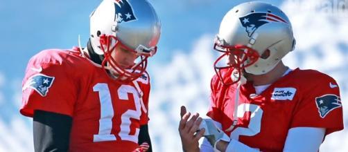 New England Patriots quarterbacks. - [Boston Herald / YouTube screencap]