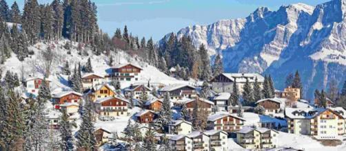 O inverno suíço é um dos mais bonitos e icônicos do mundo
