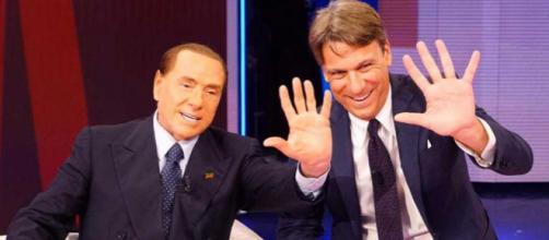 Silvio Berlusconi in compagnia di Nicola Porro