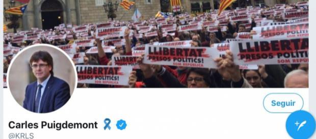 Cuenta de Twitter de Carles Puigdemont