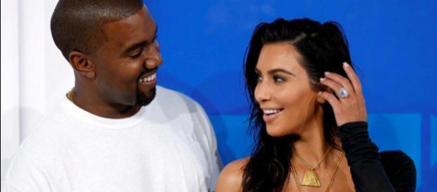Kim and Kanye. - [Image courtesy @CNN via Twitter]