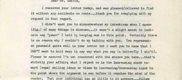 Page one of letter from Ed Kemper [Image via the author]