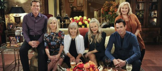 Pictured: Peter Bergman, Eileen Davidson, Marla Adams, Melissa Ordway, Jason Thompson, and Beth Maitland [Image via CBS, used with license]