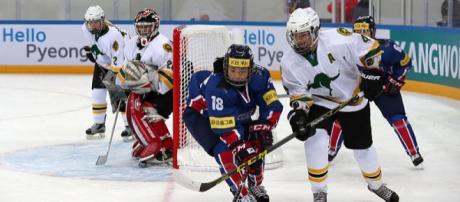 Ice Hockey team of Korea in Women's World Championship (Image credit – Jeon Han, Wikimedia Commons)