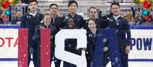 Team USA. - [Photo courtesy @USSpeedskating via Twitter]