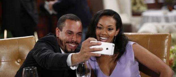 Pictured: Bryton James and Mishael Morgan. - [Image via Cliff Lipson / CBS with permission]