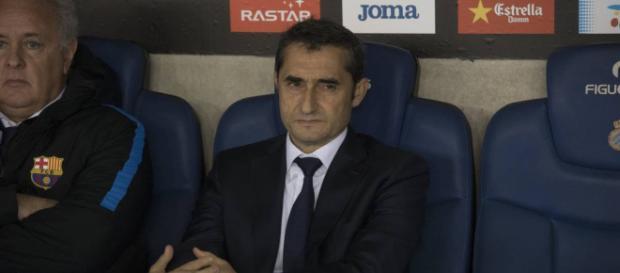 Valverde después de la derrota del Barça en cuartos de final de la Copa del Rey