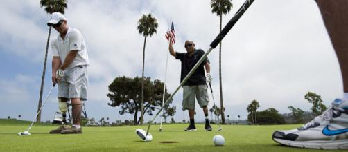 A game of golf (Image credit - James R. Evans, Wikimedia Commons)
