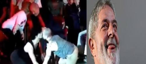 Ato mostrou beijo gay na frente do petista (Foto: Captura de vídeo)