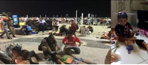 Carro descontrolado invade a praia de Copacabana