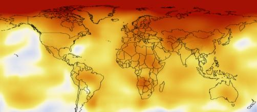 Evidence of the Earth's rising temperature over the past decade (2000-2009). [Image via scientists at NASA's Goddard Institute for Space Studies]